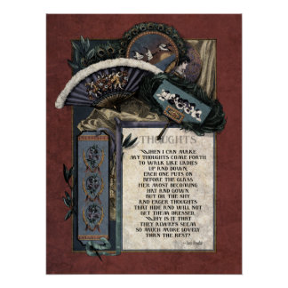 Victorian Poetry Glossy Perfect Poster - Teasdale