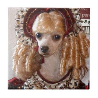 Victorian Poodle Love Dog Pose Tile