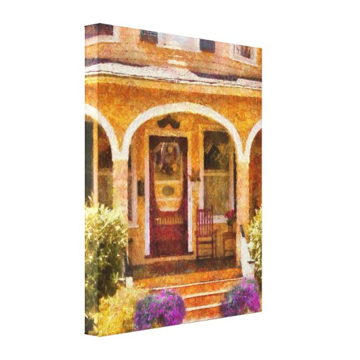 Victorian - Porch - Visiting Grandma Gallery Wrapped Canvas