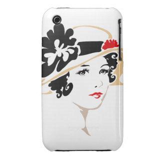 Victorian Portrait iPhone 3 Cases