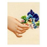 Victorian Posies Embossed Greeting Card Flowers Postcard