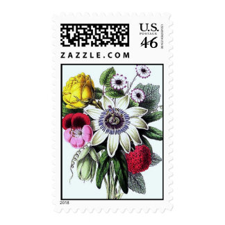 Victorian Posy Postage Stamps