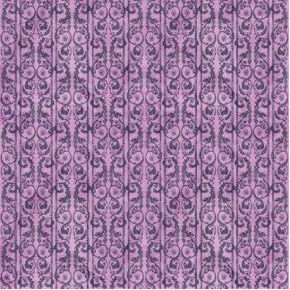 Victorian Purple Floral Photo Sculpture