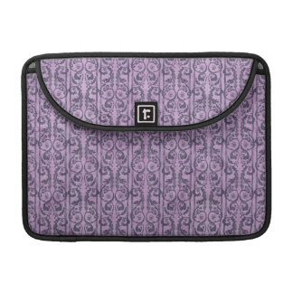 Victorian Purple Floral Sleeve For MacBook Pro