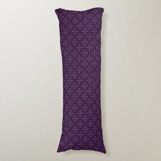 Victorian Purple Fractal Pattern Plain Purple Back Body Pillow