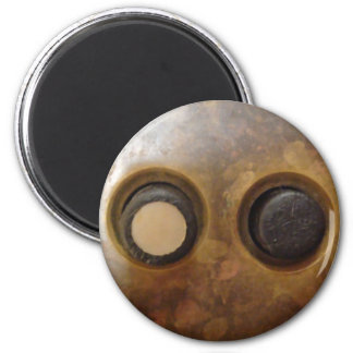 Victorian Push Button Light Switch 2 Inch Round Magnet