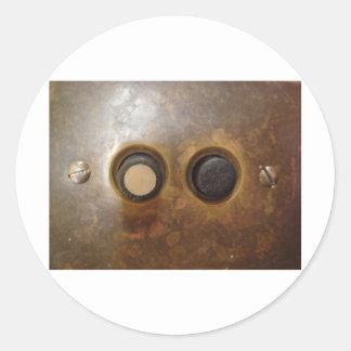 Victorian Push Button Light Switch Classic Round Sticker