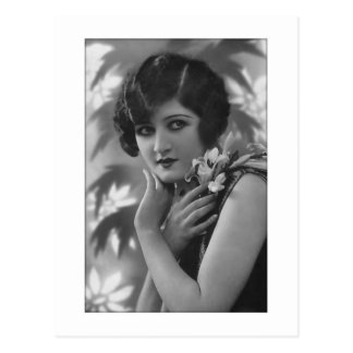 Victorian que atonta en blanco y negro tarjeta postal