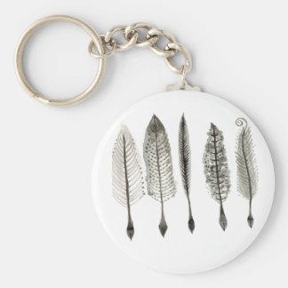 Victorian Quills Ink Design Basic Round Button Keychain