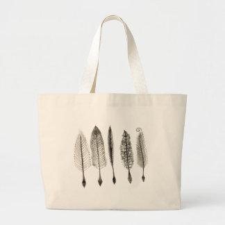 Victorian Quills Ink Design Large Tote Bag