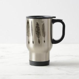 Victorian Quills Ink Design 15 Oz Stainless Steel Travel Mug