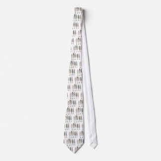 Victorian Quills Ink Design Neck Tie