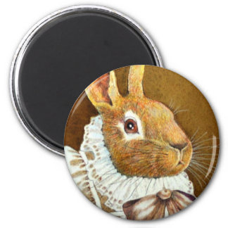 Victorian Rabbit Round Magent Fridge Magnets