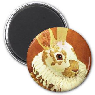 Victorian Rabbit Round Magent Refrigerator Magnet