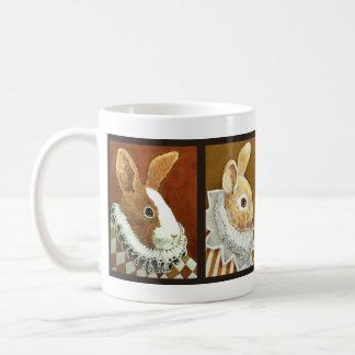 Victorian Rabbits Galore! Classic White Coffee Mug