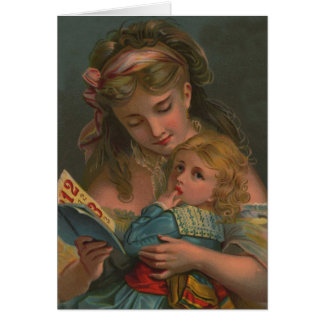 Victorian Reading Time Card