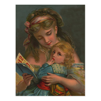 Victorian Reading Time Post Cards