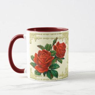 Victorian Red Roses Coffee Mug