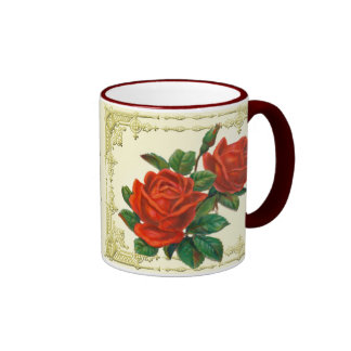 Victorian Red Roses Coffee Mug