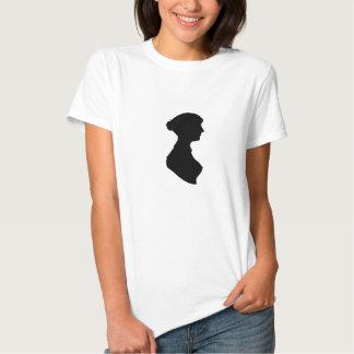 Victorian Regency Woman Silhouette Portrait Tee Shirt