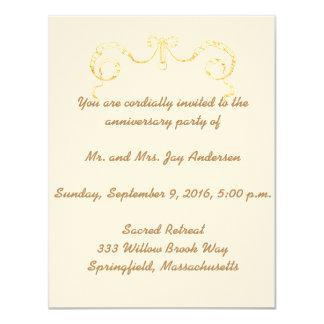 Victorian Ribbon Anniversary Party Invitation