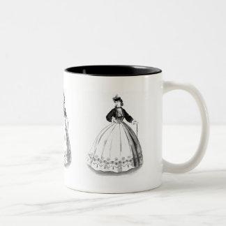 """Victorian Robe Dress"" Two-Tone Coffee Mug"