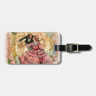 Victorian Romantic Couple at a Dance Luggage Tag