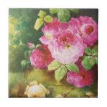 Victorian rosado subió tejas  ceramicas