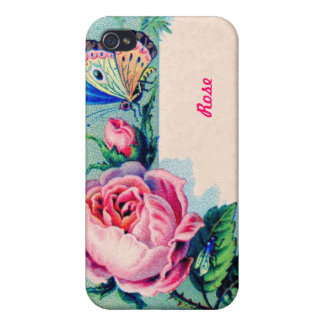 Victorian Rose and Butterfly iPhone Case