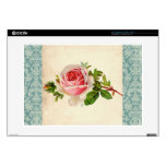 """Victorian Rose and Damask Decals For 15"""" Laptops"""