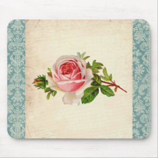 Victorian Rose and Damask Mouse Pad