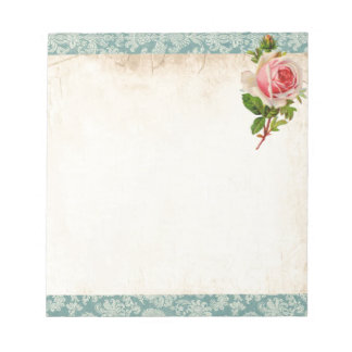 Victorian Rose and Damask Notepad