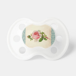 Victorian Rose and Damask Pacifier