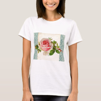 Victorian Rose and Damask T-Shirt