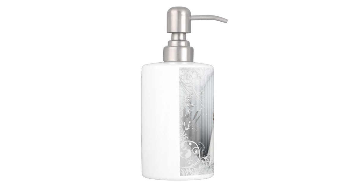 Victorian rose bathroom accessories soap dispenser and for Bathroom accessories electric toothbrush holder