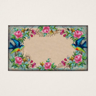 Victorian Rose Border Business Card