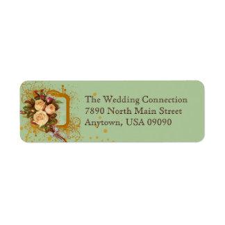 Victorian Rose Bouquet Address Labels