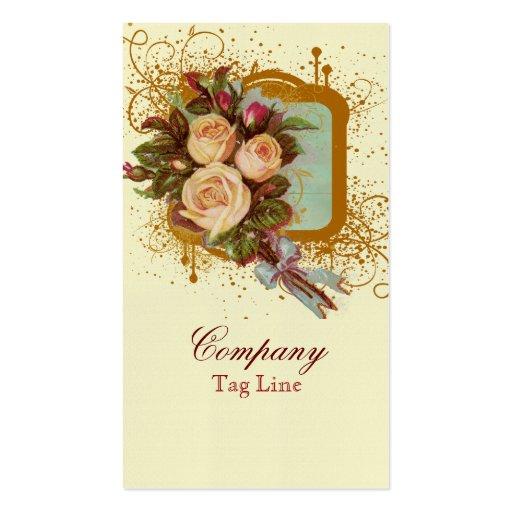 Victorian Rose Bouquet Elegant Business Cards : Zazzle