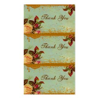 Victorian Rose Elegant Mini Card Tags Business Card