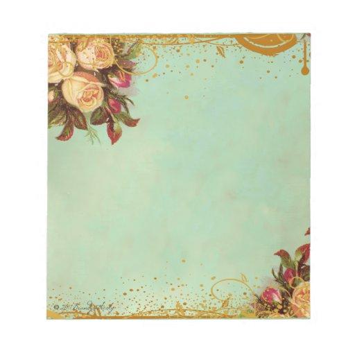 Victorian Rose Elegant Paper Memo Note Pad  Zazzle
