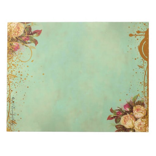 Victorian Rose Elegant Paper Pad Memo Note Pads  Zazzle