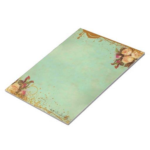 Victorian Rose Elegant Paper Pad Memo Note Pads
