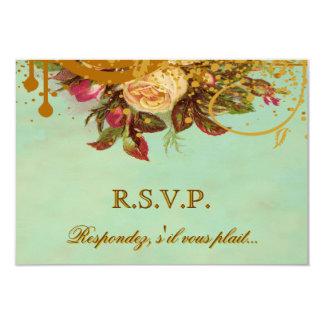 Victorian Rose Elegant RSVP Cards