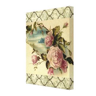 Victorian Rose Garden Gate Canvas Print