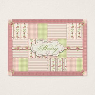 Victorian Rose Quilt Reminder Notecard Business Card