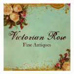 Victorian Rose Sign Poster