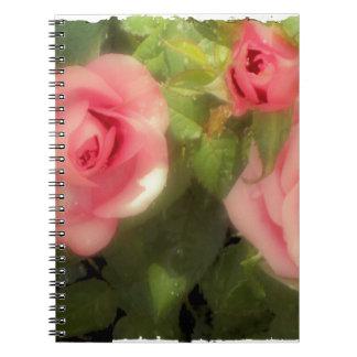 Victorian Rose Spiral Note Books