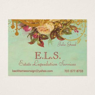 Victorian Rose Swirls & Splatter Standard Biz Card