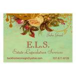 Victorian Rose Swirls & Splatter Standard Biz Card Large Business Card