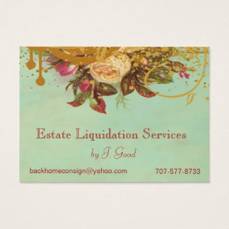 Victorian Rose Swirls & Splatter Standard for ELS Business Card